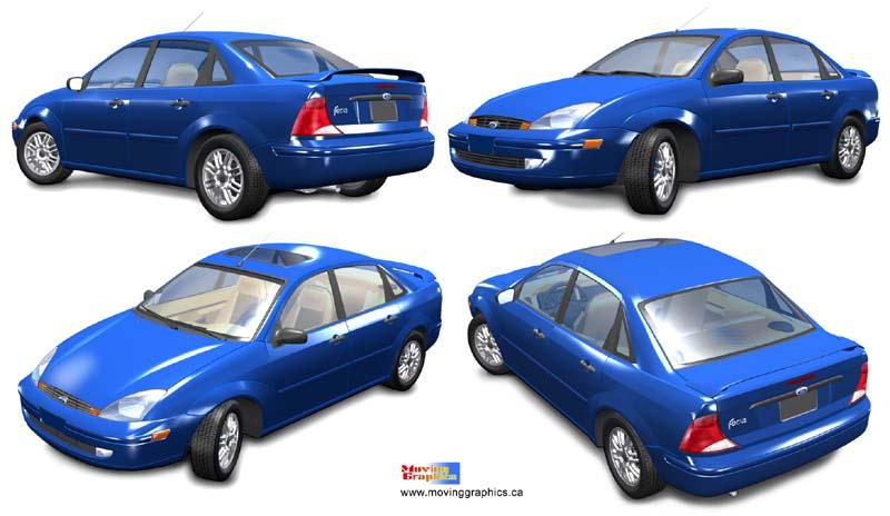 Computer 3D Car Models By Moving Graphics, 3D Car Model