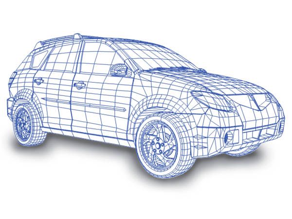 Computer 3D Car Models by Moving Graphics, 3D Car Model